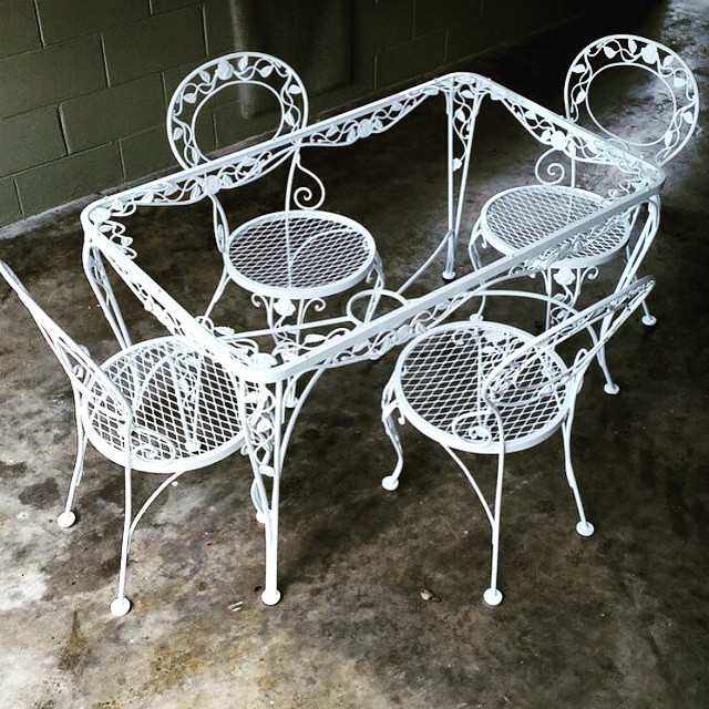 Patio set refurbished  #shotblast #powdercoat #refinishing#