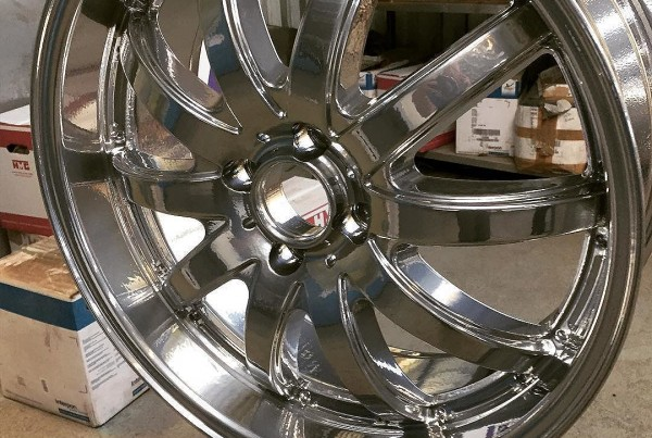 A little bit of Bling # #powdercoating#alloywheels#beadblasting#rustbusters#