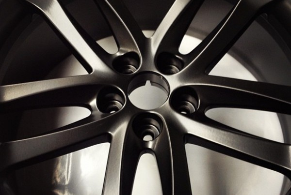All new matt black powder finish. #wheels#powdercoating#refurb#