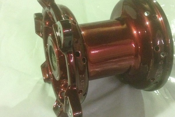Customised hubs ready for the rebuild, #motocross#powder coating#wheels#glass bead blasting