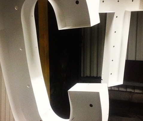 Letters freshly Powdercoated ready to see the light .. #powdercoating#electricalphabet#